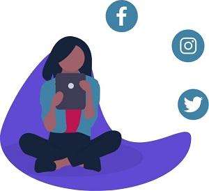 wé-co réseaux sociaux autour d'une personne